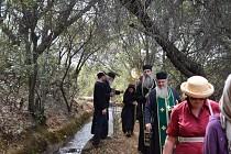 Ручей течет через монастырь круглый год
